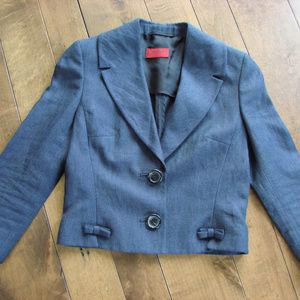 Hugo Boss Linen Navy Blue Jacket Blazer